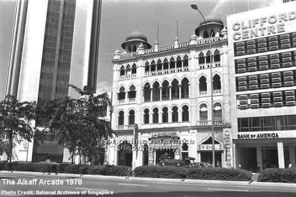 صورة لمركز تجاري بناه الكاف في سنغافورة عام 1909م، قبل أن يبيعه في عام 1962 للتنمية السنغافورية بمبلغ وقدره 12 مليون دولار.