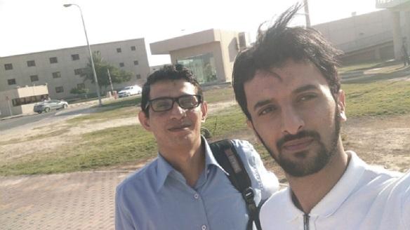 مع الاخ وليد عوض فريد عوض في حرم جامعة الملك فهد للبترول والمعادن